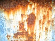 De textuur van de roest De staaf op de linkerzijde is in nadruk Royalty-vrije Stock Fotografie