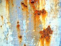 De textuur van de roest De staaf op de linkerzijde is in nadruk Royalty-vrije Stock Foto