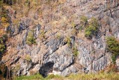 De textuur van de rotsmuur Stock Foto's