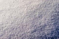 De textuur van de sneeuw die een bevroren kristallisatie liggen stock fotografie