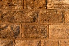 De textuur van de steenbakstenen muur Stock Afbeeldingen
