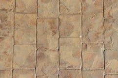 De textuur van de steenbestrating Stock Afbeeldingen