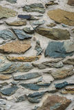 De textuur van de steenmuur met beton Royalty-vrije Stock Afbeeldingen