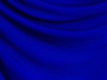 De textuur van de stof op blauwe achtergrond Stock Foto