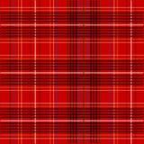 De Textuur van de Stof van het geruite Schotse wollen stof Royalty-vrije Stock Fotografie