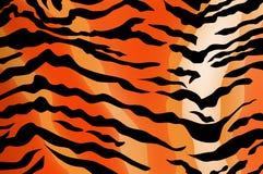 De textuur van de tijger Stock Foto