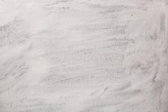 De textuur van de verf is wit Muurachtergrond met pleister en vlekken Een screensaver of een prentbriefkaar voor een vakantie Stock Afbeeldingen