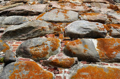 De textuur van de vestingen van het steenmetselwerk in het Noorden Royalty-vrije Stock Foto