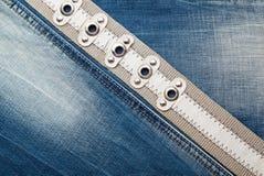 De textuur van denimjeans Stock Foto