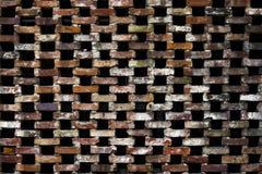 De textuur van een bakstenen muur, met onderbrekingen tussen bakstenen royalty-vrije stock foto's