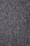 De textuur van een donkergrijze katoenen doek Stock Afbeeldingen