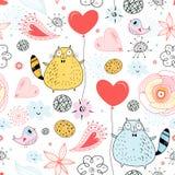 De textuur van een kattenminnaar royalty-vrije illustratie