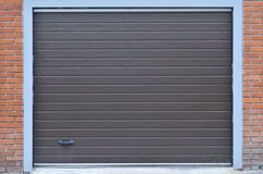 De textuur van garageshutterdoor Stock Fotografie