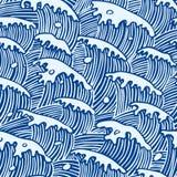 De textuur van golven Stock Afbeelding