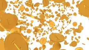 De textuur van gouden muntstukken stock videobeelden