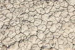 De textuur van de grond met barsten Royalty-vrije Stock Afbeelding