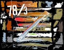 De textuur van Grunge Decoratieve achtergrond Abstract vectormalplaatje Stock Afbeeldingen