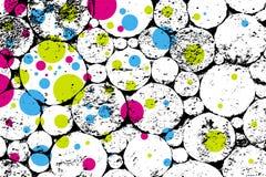 De textuur van Grunge met kleurenringen,   Stock Foto