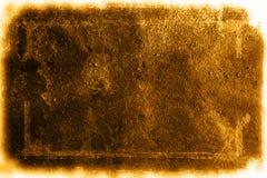 De textuur van Grunge met witte grens stock foto's