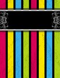 De textuur van Grunge op kleuren gestreepte achtergrond stock illustratie