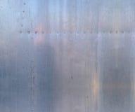 De textuur van het aluminium Stock Foto's