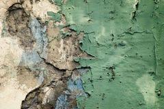 De textuur van het de baksteenpleister van de barstmuur Oude samenvatting gebroken architectuurachtergrond Gekraste gipspleister  royalty-vrije stock afbeelding