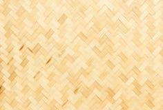 De textuur van het bamboeweefsel Stock Foto