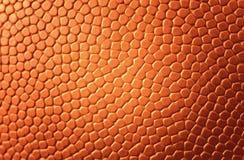 De textuur van het basketbal Stock Afbeeldingen