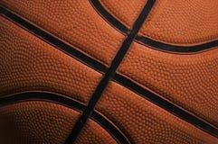 De textuur van het basketbal stock foto