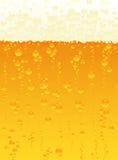 De textuur van het bier Stock Afbeeldingen