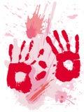 De textuur van het bloed grunge Stock Afbeelding