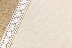De textuur van het canvas Stock Afbeelding