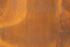 De textuur van het Cortenstaal Stock Afbeeldingen