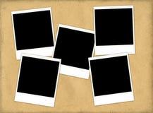De textuur van het document met vijf dia's Stock Foto's