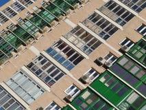 De textuur van het gebouw Moderne architectuur Stock Foto's