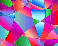 De textuur van het gebrandschilderd glas vector illustratie