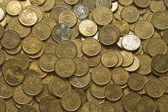 De textuur van het geld. Stock Foto