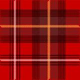 De Textuur van het geruite Schotse wollen stof Royalty-vrije Stock Afbeeldingen