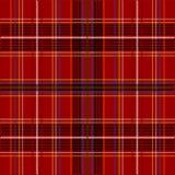 De Textuur van het geruite Schotse wollen stof Stock Fotografie