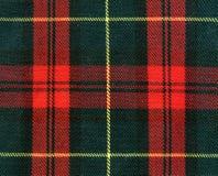De textuur van het geruite Schotse wollen stof Stock Afbeeldingen