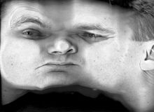 De textuur van het gezicht Stock Fotografie