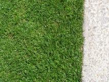 De Textuur van het gras en van het Grint Stock Fotografie