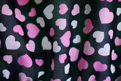 De textuur van het hart op een stof Stock Afbeelding