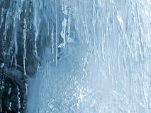 De textuur van het ijs Stock Foto