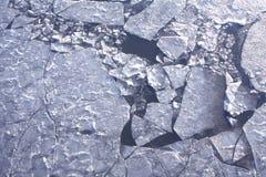 De Textuur van het ijs Stock Foto's