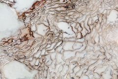 De textuur van het ijzermineralen van Pamukkaleturkije Royalty-vrije Stock Afbeeldingen