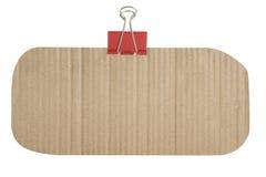 De textuur van het karton en binderclip Royalty-vrije Stock Fotografie