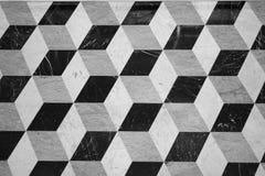 De textuur van het kubuspatroon Stock Foto