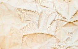 De textuur van het leer die van koehuid wordt gemaakt Royalty-vrije Stock Foto's