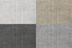 De textuur van het linnen voor de achtergrond van vier kleuren Royalty-vrije Stock Foto